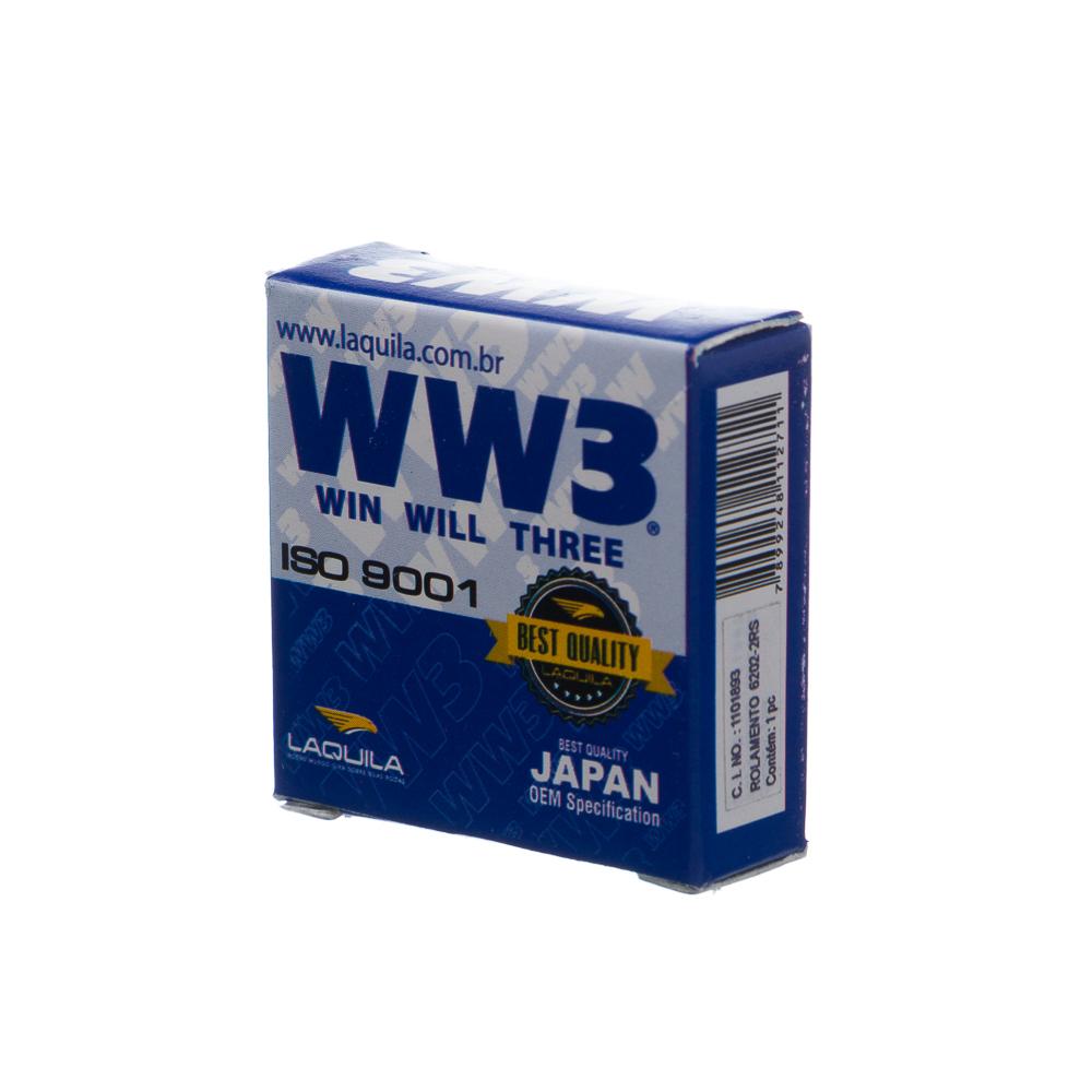 ROLAMENTO WW3 6202 2RS