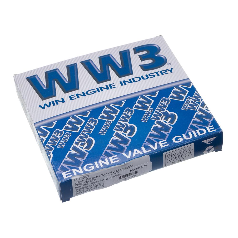 GUIA VALVULA ADMISSAO WW3 CBR 250R (SEMI-USINADA)