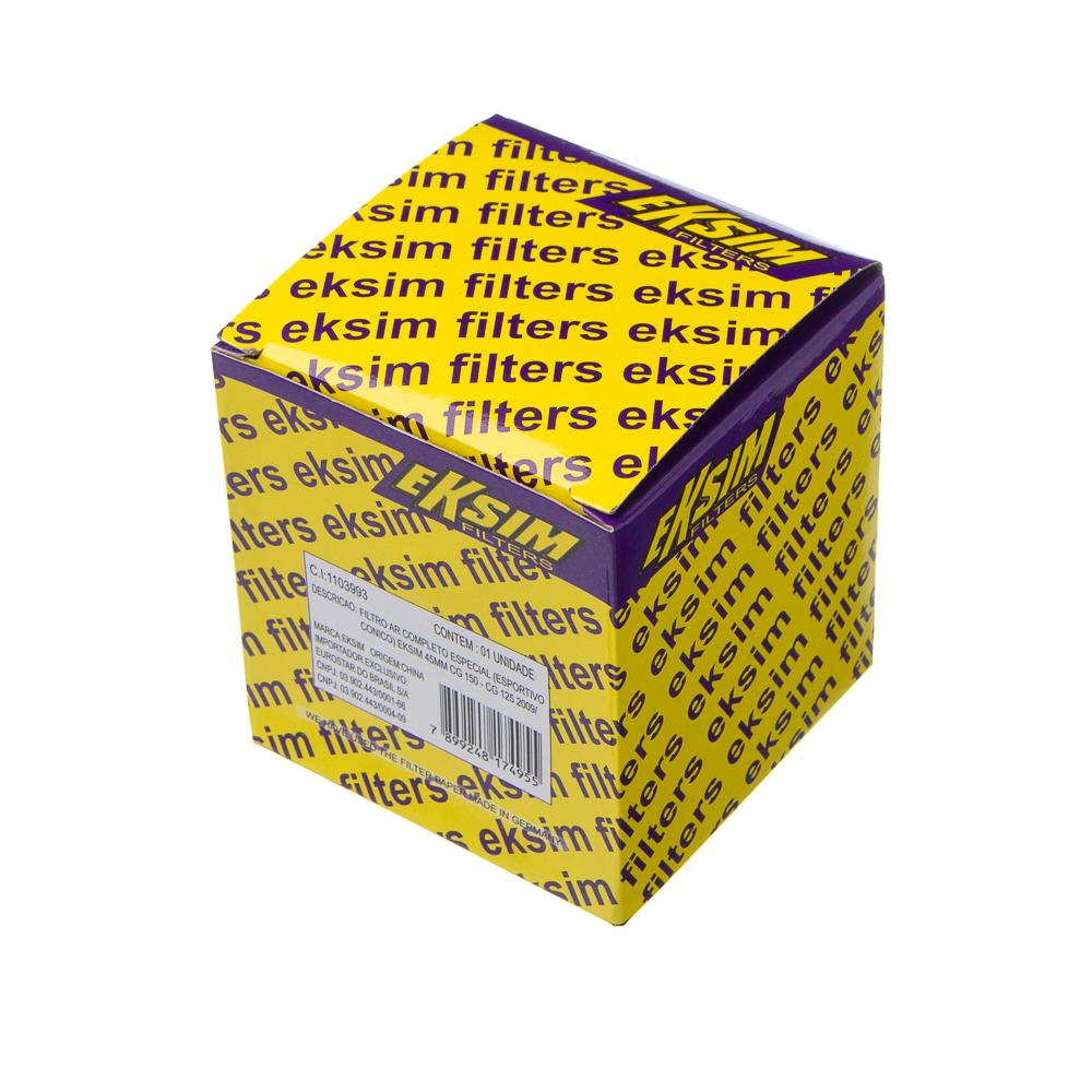 FILTRO AR COMPLETO ESPECIAL EKSIM 45MM CG 150 – CG 125 09/