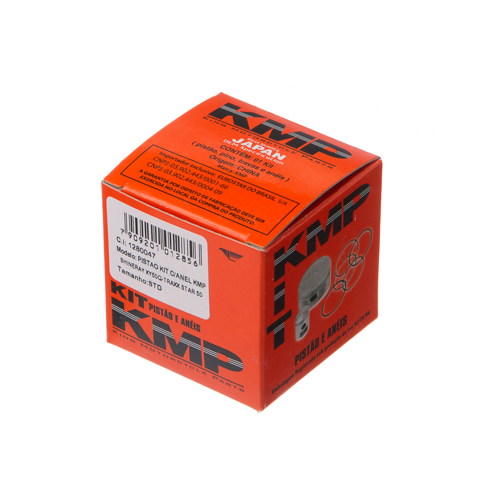PISTAO KIT C/ANEL KMP SHINERAY XY50Q – TRAXX STAR 50 0.75